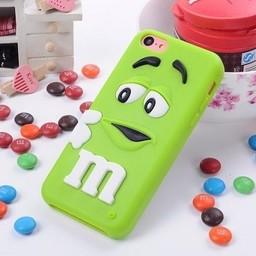 Iphone 4 (S) Siliconen hoesje M&M Groen