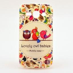 Samsung galaxy Ace 3 S7272 TPU hoesje Lovely Owl Babies