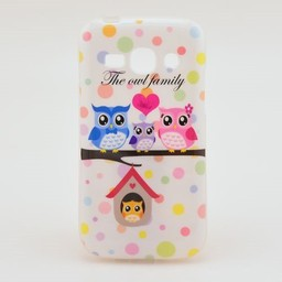 Samsung galaxy Ace 3 S7272 hoesje The Owl Family