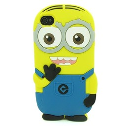 Iphone 5 (S) en 5(c) hoesje Minion 2 Eyes Licht blauw