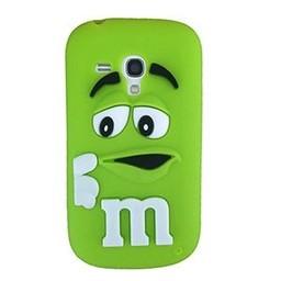 Samsung S3 Mini siliconen hoesje M&M Groen