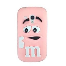 Samsung S3 Mini siliconen hoesje M&M Licht rose