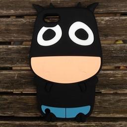 Ipod Touch 5 en 6 (G) siliconen bescherm hoesje Koe Zwart