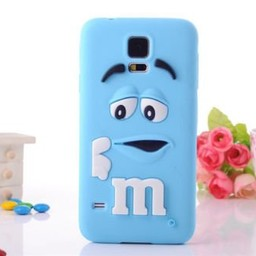 Samsung Galaxy Note 3 Siliconen hoesje M&M Blauw
