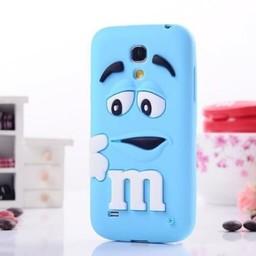 Samsung S4 Mini siliconen hoesje M&M Licht Blauw