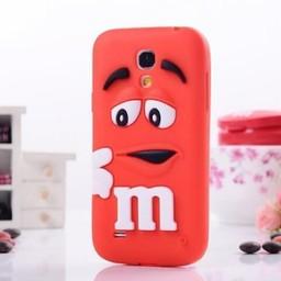 Samsung S4 Mini siliconen hoesje M&M Rood