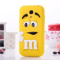 Samsung S4 Mini M&M Geel