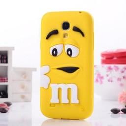 Samsung S4 Mini siliconen hoesje M&M Geel