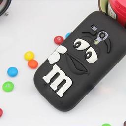 Samsung S3 Mini siliconen hoesje M&M zwart