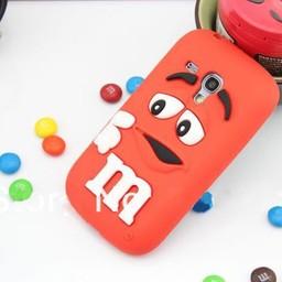Samsung S3 Mini siliconen hoesje M&M rood