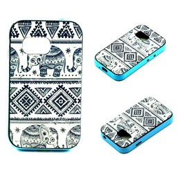 Samsung Galaxy Young 2 siliconen hoesje met gekleurde bumper Olifantjes