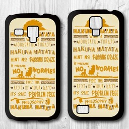 Samsung S4 Mini  Hard case hoesje Hakuna Matata