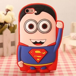 Iphone 5(S) en 5(C) hoesje Minion Superheld Superman