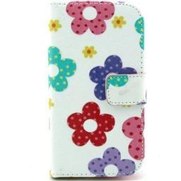 Samsung Galaxy Core Plus Wallet hoesjes Flowers