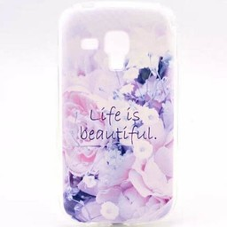 Samsung Galaxy S Duos(2)/Trend Plus TPU Hoesje Life is Beautiful