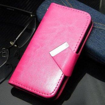 Iphone 4(s) PU Lederen hoesje Wallet Roze