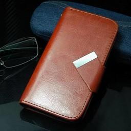 iphone 4(s)  Leren Wallet Bruin