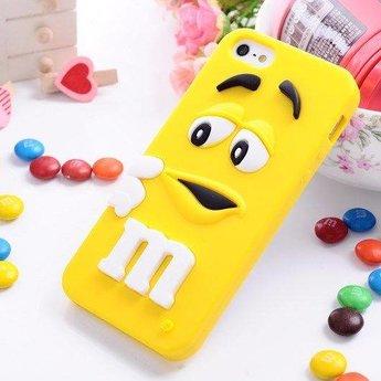 Iphone 4 (S) Siliconen hoesje M&M Geel
