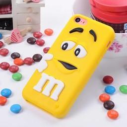 Iphone 5 C Siliconen hoesje M&M Geel