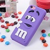 Iphone 5 C Siliconen hoesje M&M Paars