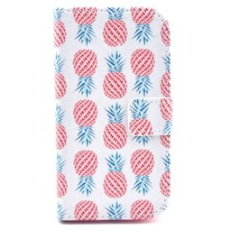 Samsung Galaxy Core 8260/62  Leren Wallet  Ananas Wit