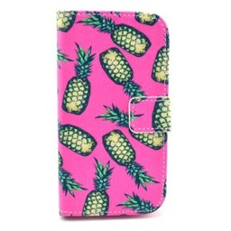Samsung Galaxy Core 8260/62  Leren Wallet Ananas Rose