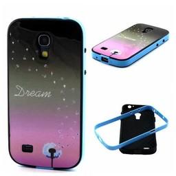 Samsung S4 mini siliconen hoesje met gekleurde bumper Dream