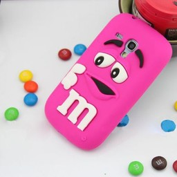 Samsung S3 Mini siliconen hoesje M&M Donker Rose