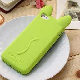 Iphone 5 C Siliconen hoesje Koko Cat Groen