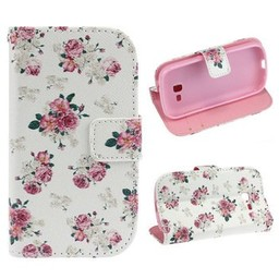 Samsung Galaxy Trend Lite Wallet hoesje Bloemen