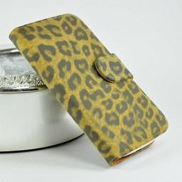 Samsung S3 leren Wallet Leopard Bruin