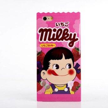 Iphone 4 (S) Hard siliconen hoesje Japans Design Peko Milky