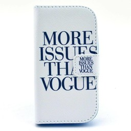 Samsung Galaxy Trend Lite Wallet hoesje More Issues Than Vogue