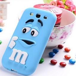 Samsung Galaxy S3 Siliconen hoesje M&M Blauw