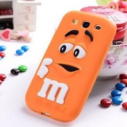 Samsung Galaxy S3 Siliconen hoesje M&M Oranje