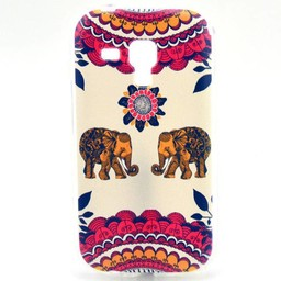 Samsung Galaxy S Duos(2)/Trend Plus TPU Hoesje Olifantjes