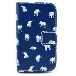Samsung Galaxy Fame Lederen PU Wallet Olifant 2