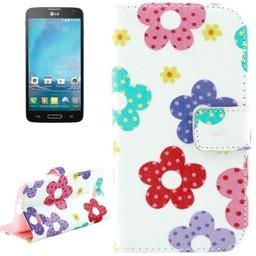 LG L90 hoesje PU Lederen Wallet Bloem