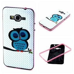 Samsung Galaxy Grand Prime Hard siliconen hoesje met gekleurde bumper Owl 1