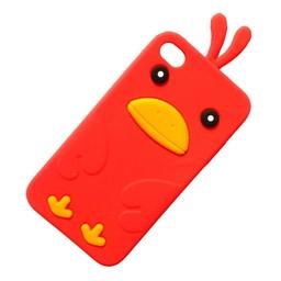 Ipod Touch 4 (G) siliconen bescherm hoesje Kuikentje Rood