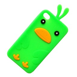 Ipod Touch 4 (G) siliconen bescherm hoesje Kuikentje Groen