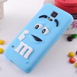 Samsung Galaxy S5 Siliconen hoesje M&M Blauw