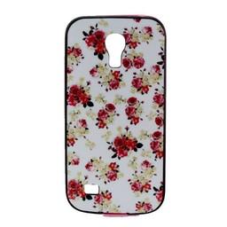 Samsung S4 mini siliconen hoesje met gekleurde bumper Bloemen