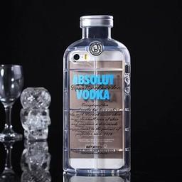 Iphone 4 (S) Hard case hoesje Absolute Vodka (Licht-blauw)