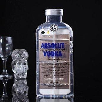 Iphone 4 (S) Hard case hoesje Absolute Vodka (blauw)