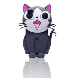 Iphone 4 (S) Siliconen hoesje Chi Cat Chi Sweet home