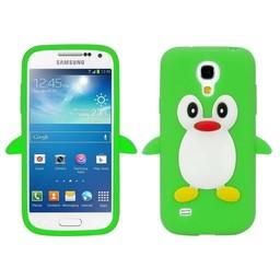 Samsung S4 Mini siliconen hoesje Pinguin Groen