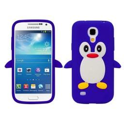 Samsung S4 Mini siliconen hoesje Pinguin Donker Blauw