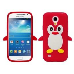 Samsung S4 Mini siliconen hoesje Pinguin Rood