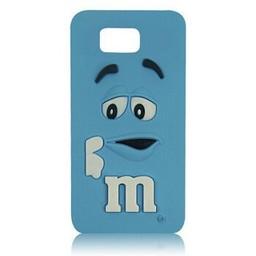 Samsung Galaxy Alpha siliconen hoesje M&M blauw